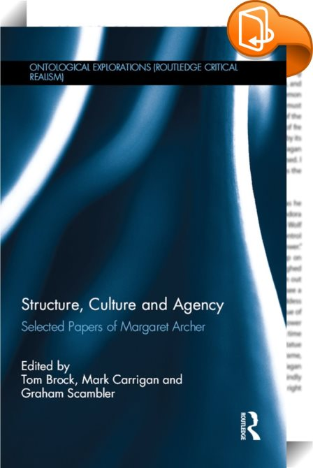 structures and agency Published: thu, 20 apr 2017 a hugely influential revolutionary thinker and philosopher, marx did not live to see his ideas carried out in his own lifetime, but his writings formed the theoretical base for modern international communism.