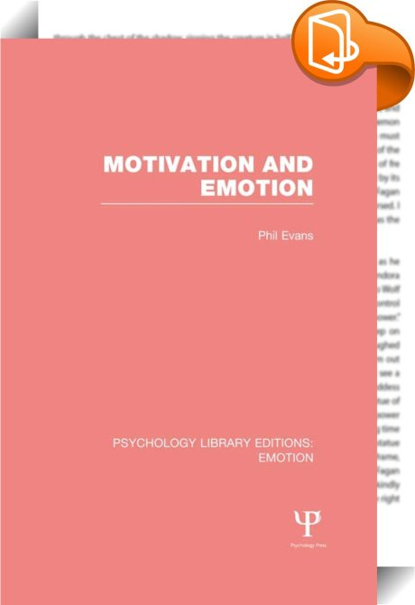 psychology motivation and emotion Motivation and emotion publishes theoretical papers and original research reports of either a basic or applied nature from any area of psychology and.