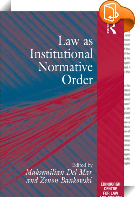 law as a social institution 19 27 law as a social institution knowledge of the ideally possible meaning of the action makes it possible to have empirical knowledge of the action weber notes that in the empirical sphere the norm is undoubtedly one determinant of the course of events, but from the logical point of view it is only one.